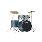 TAMA SG58H6C-HLB Hairline Blue Stagestar Drum kit with cymbals, 18x14 bass drum
